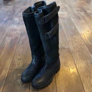 Ariat Summit 66001 Black Suede Leather Riding Boot